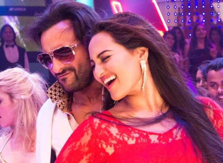 India Tv - Saif and Sonakshi in a still from 2013 Bullet Raja