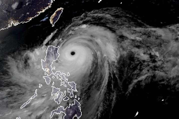India Tv - Satellite image of Typhoon Mangkhut.