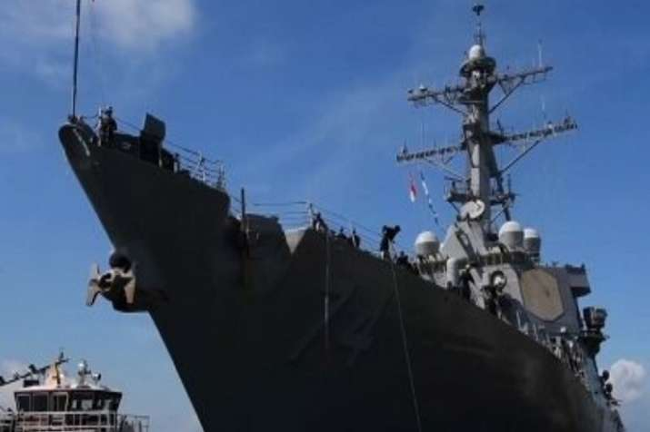 India Tv - With Hurricane Florence barreling to the US East Coast, the commander of US Fleet Forces Command ordered all U.S. Navy ships to leave the Hampton Roads area of Virginia.