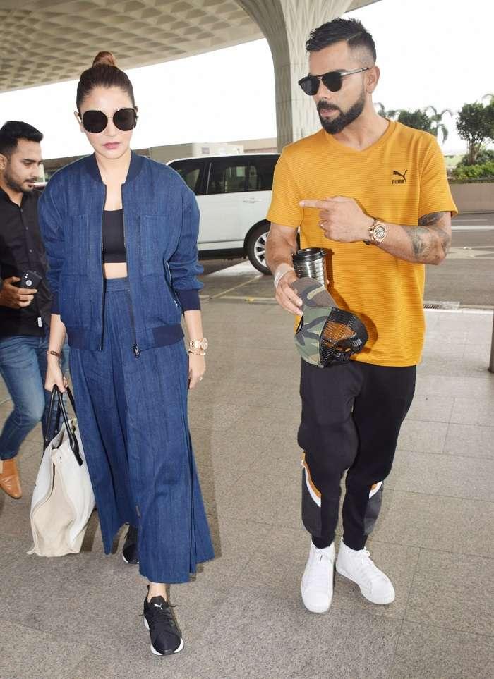 India Tv - Anushka Sharma and Virat Kohli at Airport