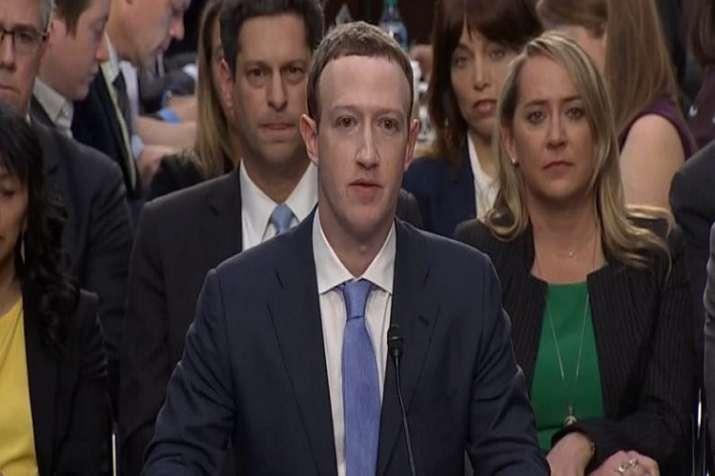 Mark Zuckerebrg during senate hearing