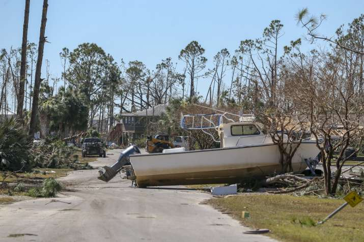 India Tv -   Dozens of structures in Mexico Beach -- homes, shops and restaurants -- were lifted off their foundations by storm surge and 155-mile per hour (250 kph) winds and moved hundreds of feet inland or smashed to bits.