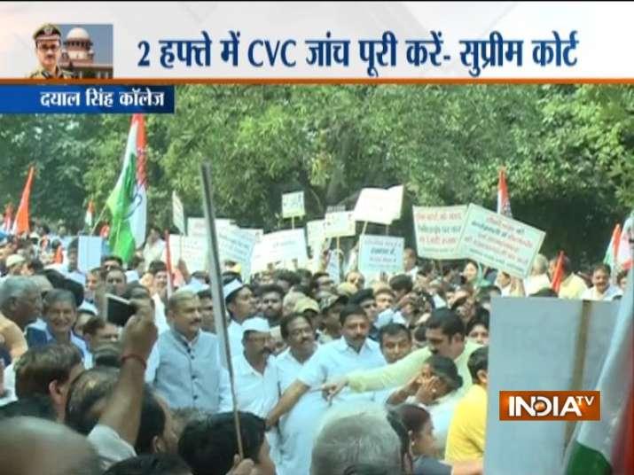 India Tv - Protests in Delhi