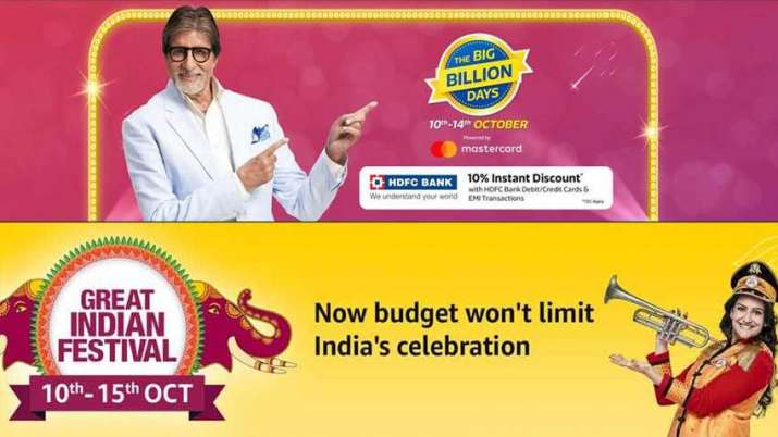 bf049539c42a2a Flipkart, Amazon on SALE spree: Save money with these offers in Big Billion  Days sale, Amazon Great Indian Festival