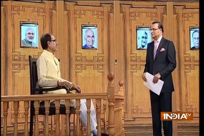 MP CM Shivraj Singh Chouhan in Aap Ki Adalat (IndiaTV)
