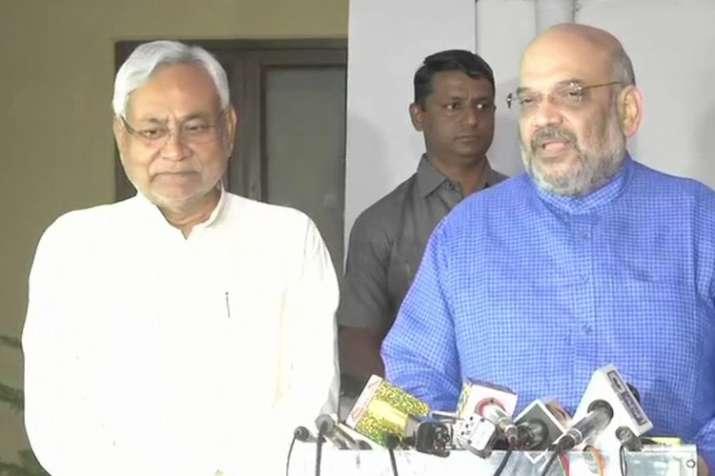India Tv - Bihar CM and JDU chief Nitish Kumar held a meeting with his BJP counterpart to finalise seat 2019 Lok Sabha polls sharing formula for Bihar. (Photo/ANI)