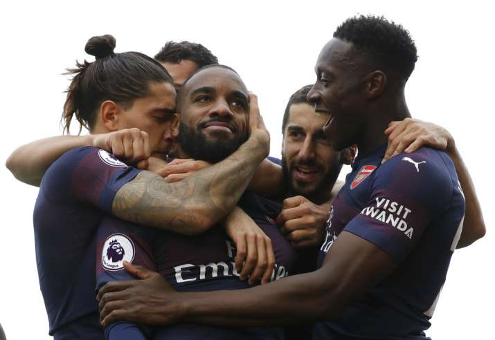 India Tv - Arsenal routed rivals Fulham 5-1 through Lacazette and Aubameyang's brace
