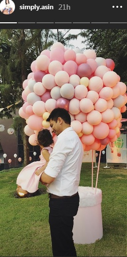 India Tv - Asin's daughter Arin's first birthday