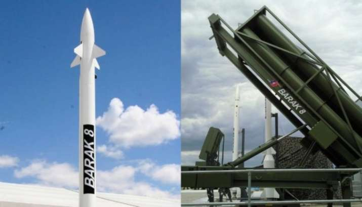 File photo of Barak 8 long-range surface-to-air defence missile