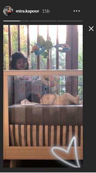 India Tv - Mira Kapoor shares first picture of son Zain Kapoor as daughter Misha watches over him
