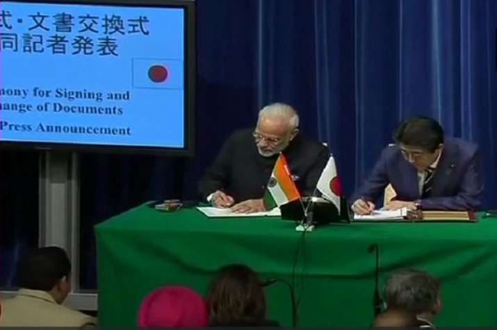 India and Japan signed a USD 75 billion bilateral currency