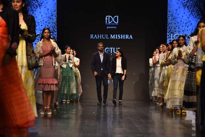 India Tv - Lotus Make-Up India Fashion Week: Childhood memories inspired designer Rahul Mishra for collection