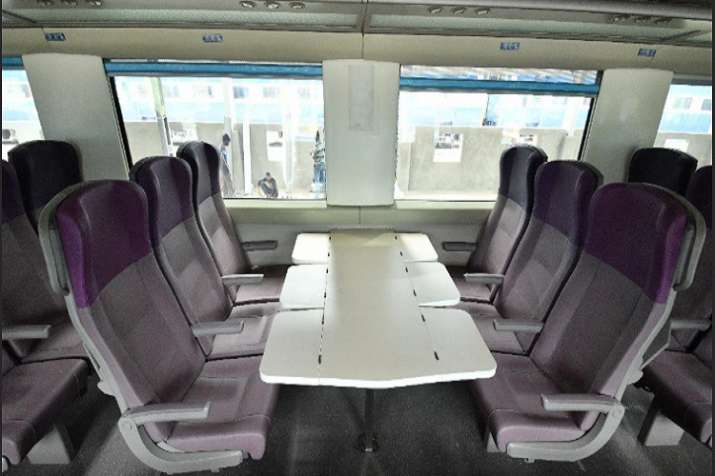 India Tv - Train 18 has beautiful interior and comfortable seats