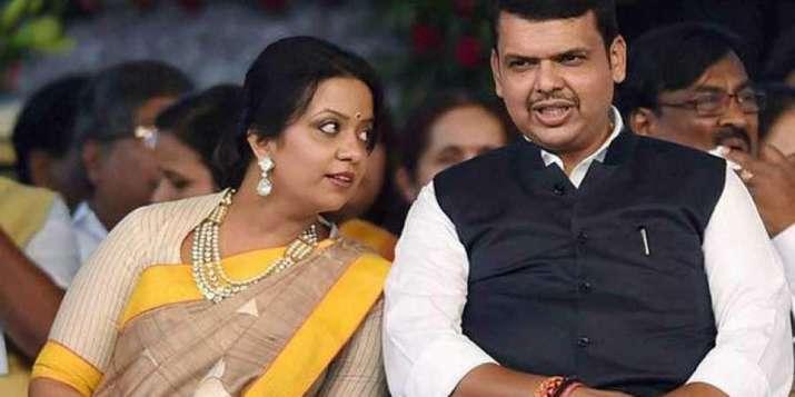 India Tv - Maharashtra CM Devendra Fadnavis with wife Amruta (File Photo/PTI)