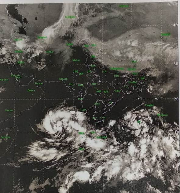 India Tv - Low pressure area over South East Arabian Sea has concentrated into a depression and likely to intensify into cyclonic storm in next 24 hours