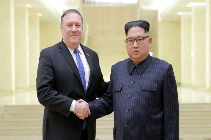 Mike Pompeo with North Korean supremo Kim Jong Un
