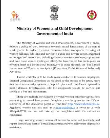 India Tv - Statement of Women and  Child Development