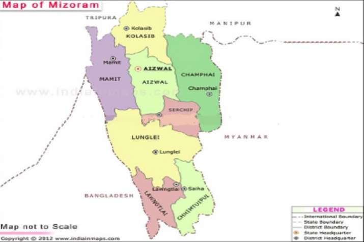 Map of Mizoram