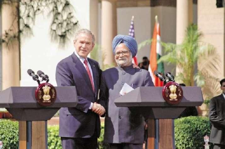 Former Prime Minister Manmohan Singh and former US