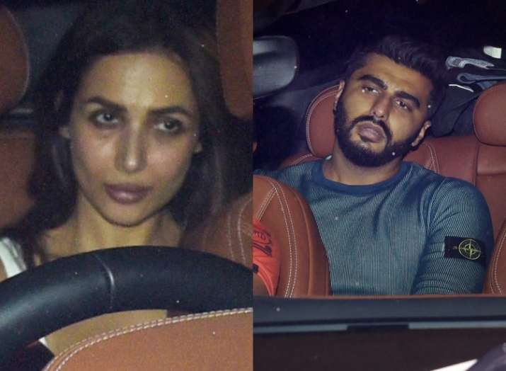 India Tv - Arjun and Malaika spotted together