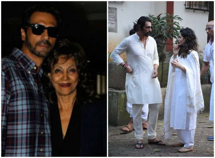 arjun rampal mother dies