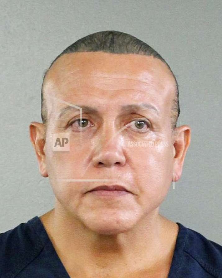 India Tv -  In this undated photo released by the Broward County Sheriff's office, Cesar Sayoc is seen in a booking photo, in Miami. (Broward County Sheriff's Office via AP)
