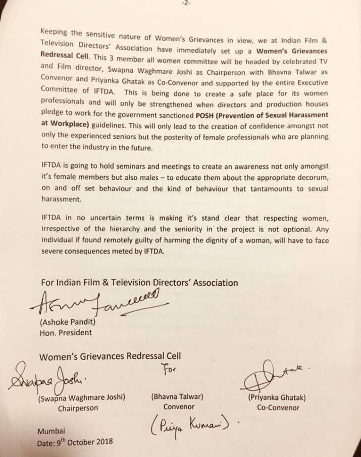 Indian Film And Television Directors Association Sends Show Cause
