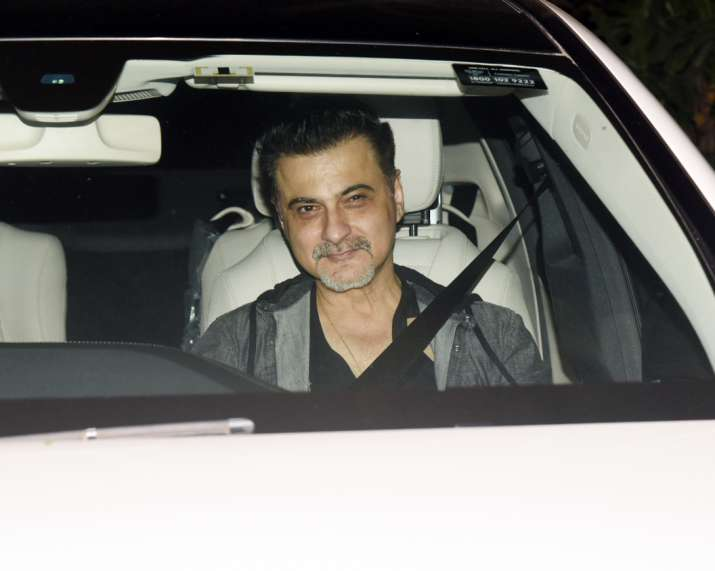 India Tv - Sanjay Kapoor attends Sandeep Khosla's house party together