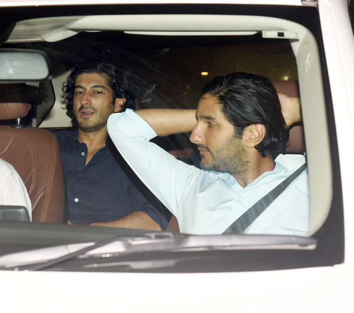 India Tv - Harshvardhan Kapoor attends Sandeep Khosla's house party together