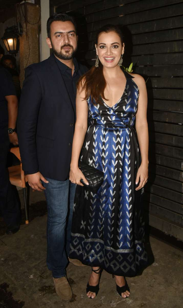 India Tv - Dia Mirza with husband Sahil Sangha