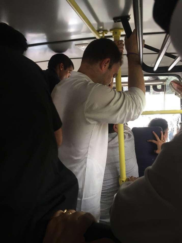 India Tv - Rahul Gandhi heading to Lodhi Colony Police station