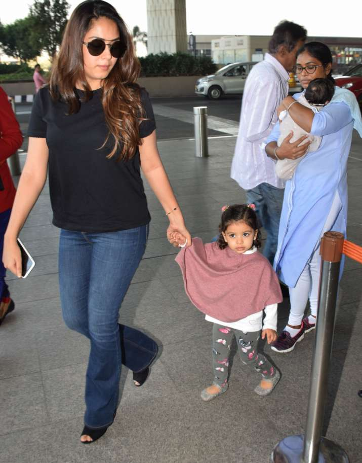 India Tv - Mira Rajput with Misha and Zain