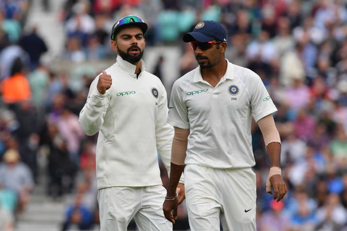 India Tv - Virat Kohli said he is lucky to have Jasprit Bumrah and Bhuvneshwar Kumar in his side