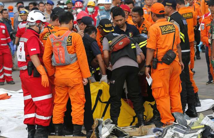 India Tv -   The recorder was recovered from a depth of about 30 meters (98 feet), some 500 meters (1,640 feet) from where the plane lost contact, said search and rescue agency head Muhammad Syaugi.