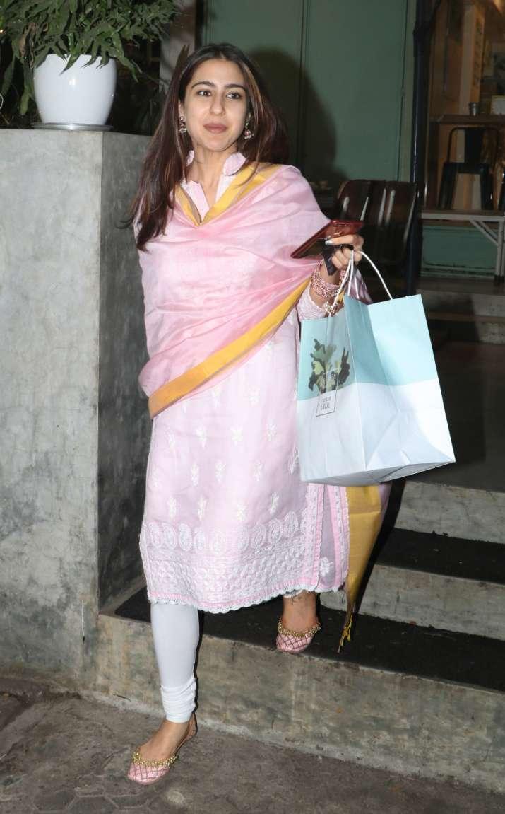 India Tv - Sara Ali Khan spotted in Bandra