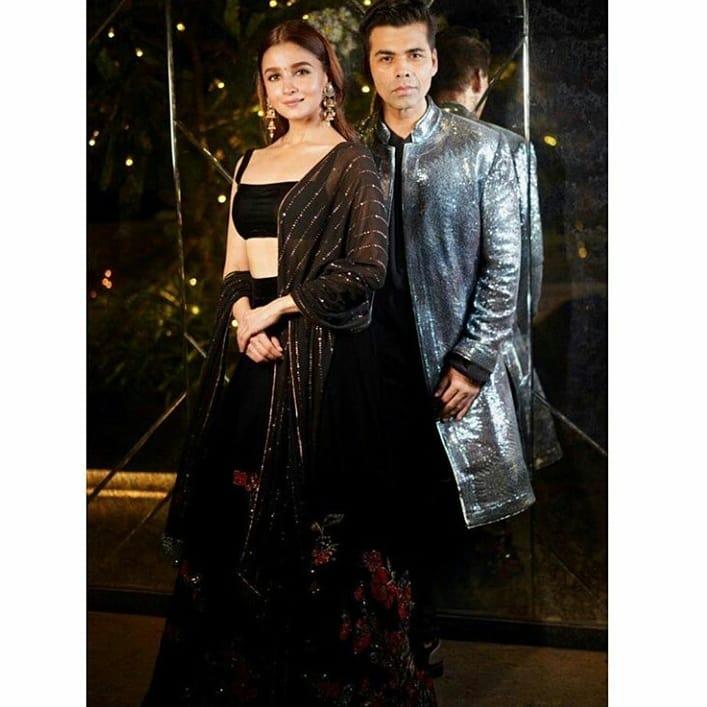 India Tv - AccompanyingAlia Bhatt is Karan Johar who looks equally hot and happening