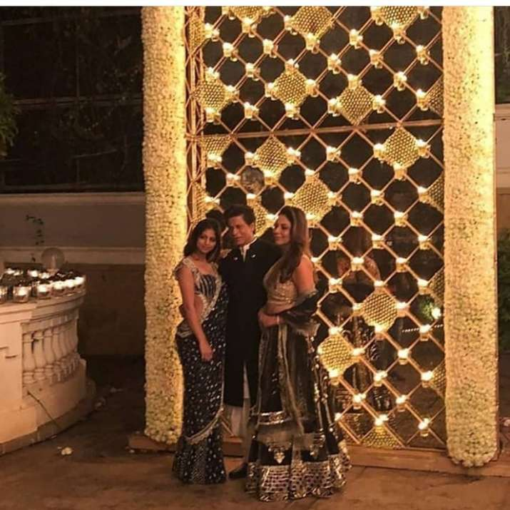 India Tv - Shah Rukh Khan, Gauri Khan and Daughter Suhana for Diwali celebrations