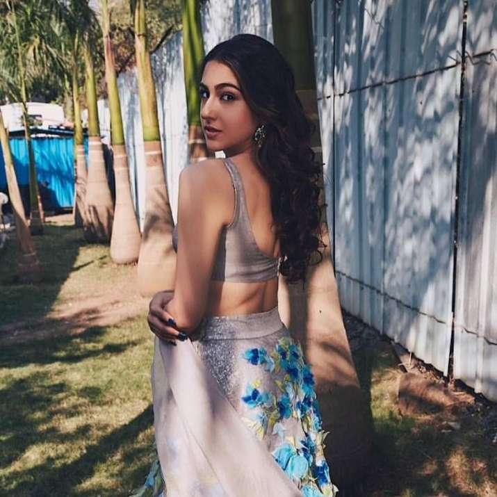 India Tv - Sara Ali Khan's sun-kissed pictures in shimmering taupe lehenga will weave a spell on you