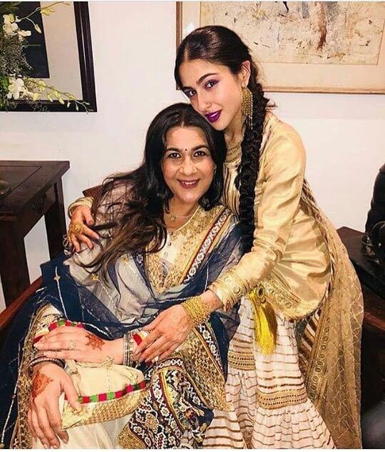 India Tv - Sara Ali Khan with her mom