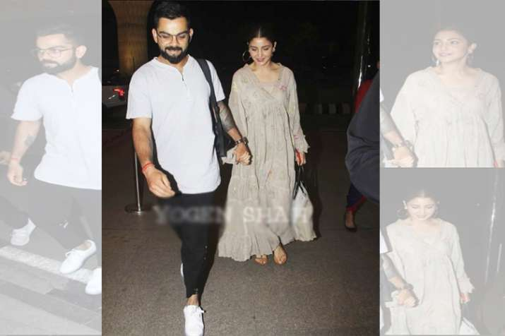 Anushka Sharma And Virat Kohli Walk Hand In Hand At The