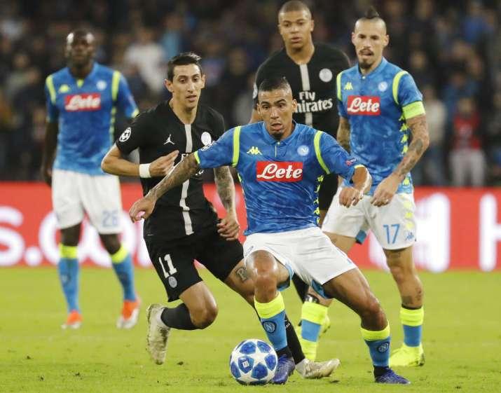 India Tv - Napoli drew PSG