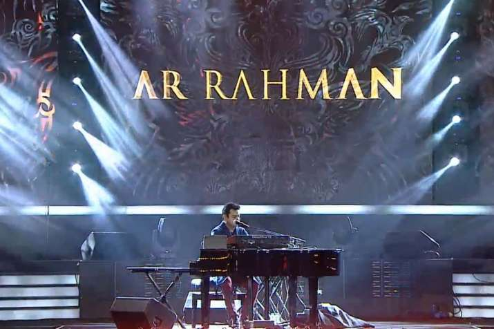 India Tv - AR Rahman sang ' Dil Se' and a few other hits along with the World Cup anthem