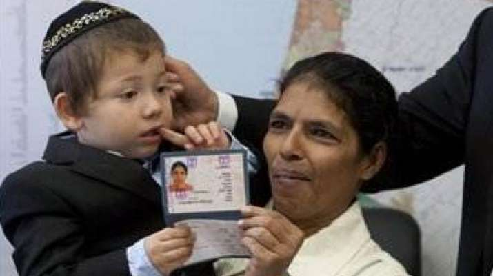 India Tv - Baby Moshe with his granny Sandra Samuel