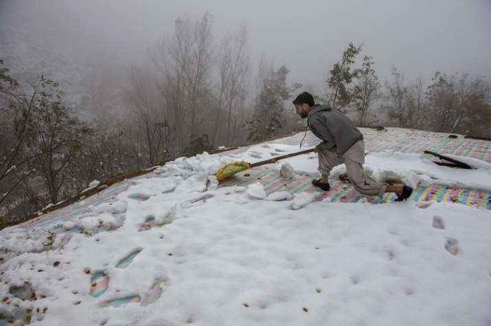 Snowfall in Jammu-Kashmir
