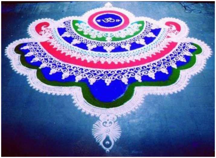 India Tv - Rangoli ideas for Diwali 2018: Make these easy, unique yet simple rangoli designs at home