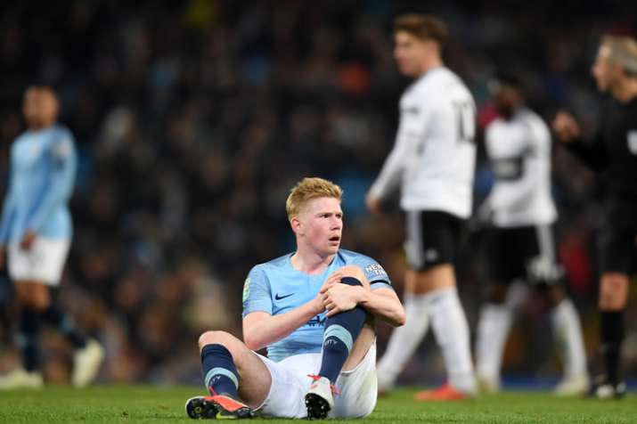 Manchester City's Kevin De Bruyne facing 6 weeks out with new knee injury