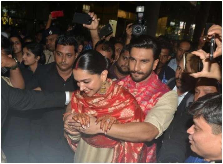 Ranveer Singh Turns Saviour For New Bride Deepika Padukone Watch The Unseen Pics And Videos Of Deepveer Bollywood News India Tv