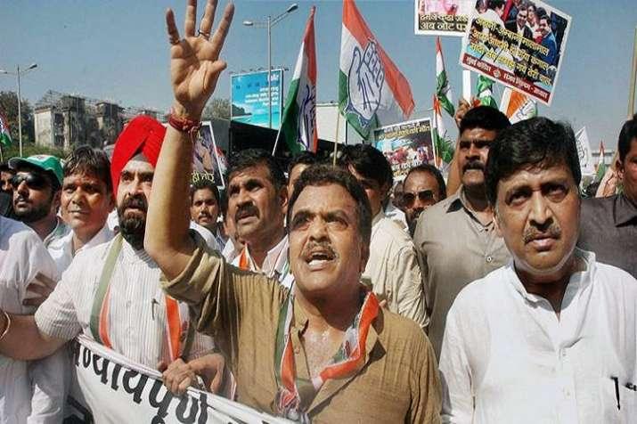 Congress holding protest against demonetisation in Punjab
