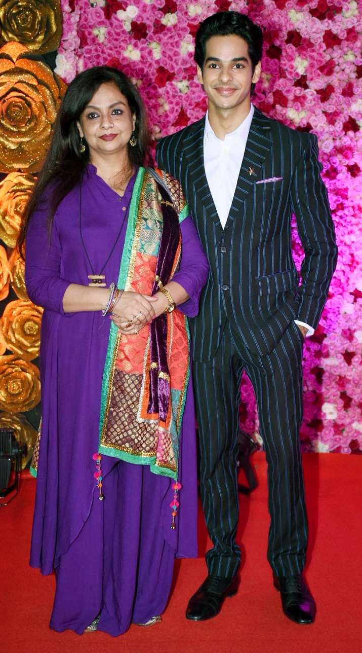 India Tv - Ishaan Khatter with mother