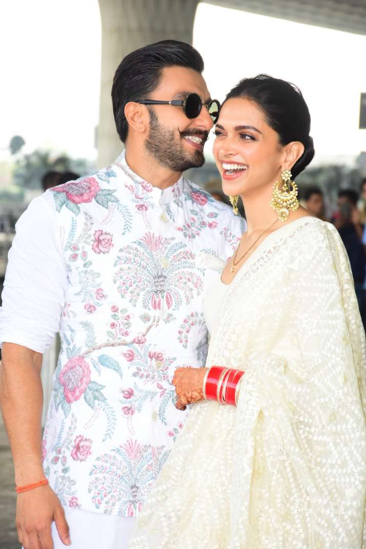 India Tv - Deepika Padukone and Ranveer Singh spotted at Mumbai airport